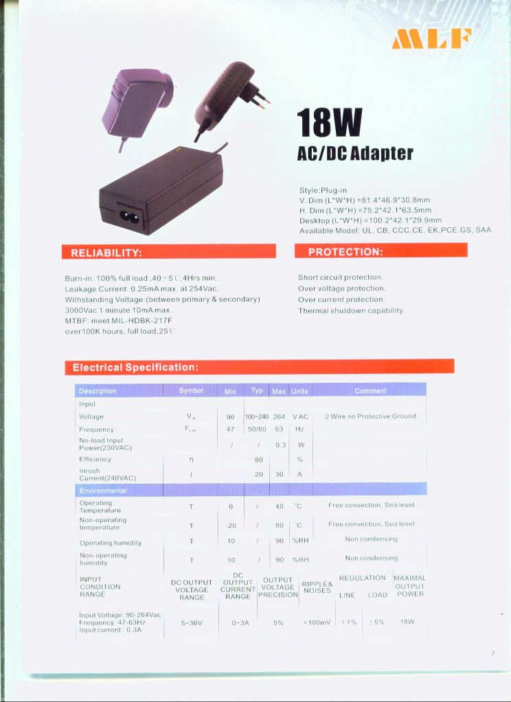 6~90W switching power supply