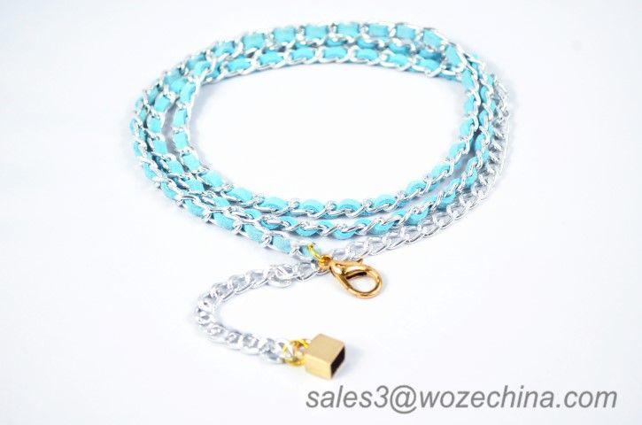 Fashion Microfiber Waist Chain Belt For Lady Skirt Chain Belt
