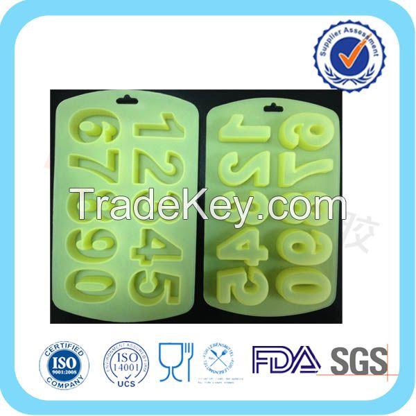 FDA/LFGB Number 0-9 ice tray mould