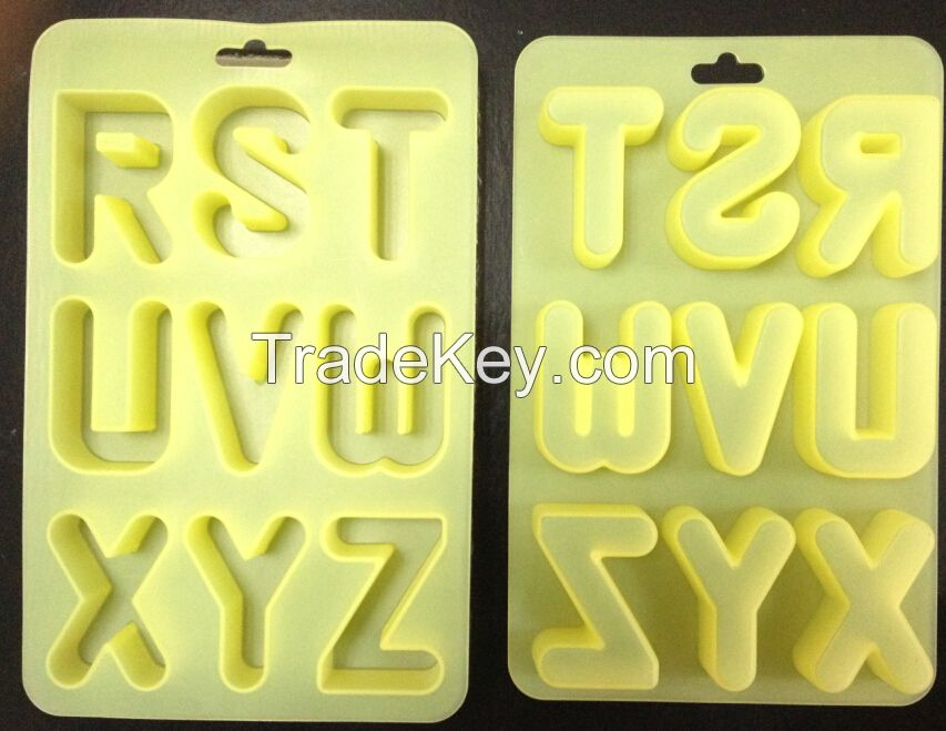 High quality A-j letter silicone ice mould