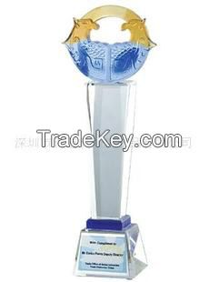 Hot-sell crystal liuli trophy / win cooperation trophy / awards