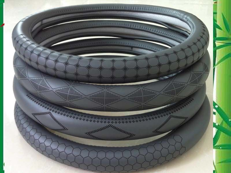 genuine leather car steering wheel covers made in China