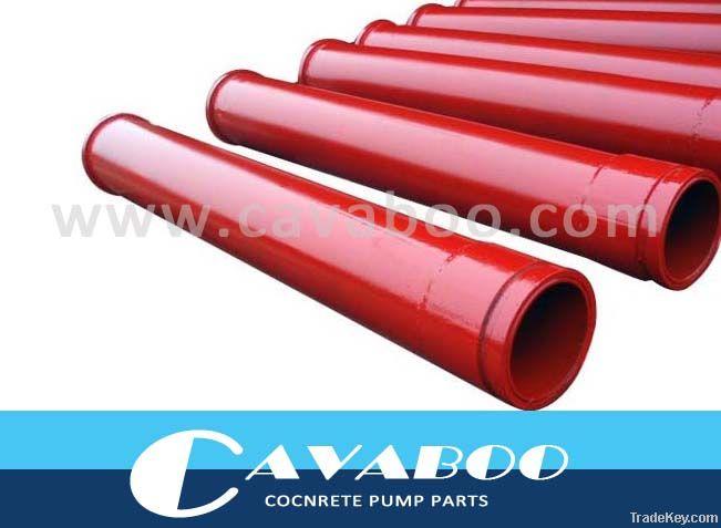 Concrete pump reducing pipe