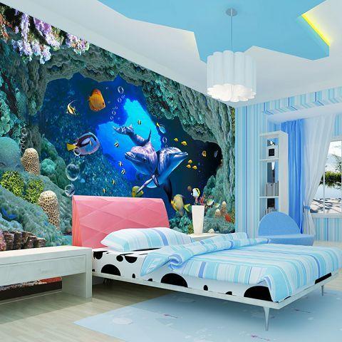 Post free anime cartoon wallpaper bedroom living room children's room