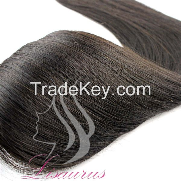 Lisaurus-J Wholesale Price Brazilian Hair with Closure Brazilian Body Wave Real Hair Natural Black Hair Extension