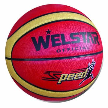 Basketballs, Customized Logos are Accepted, Made of PU/PVC/Rubber