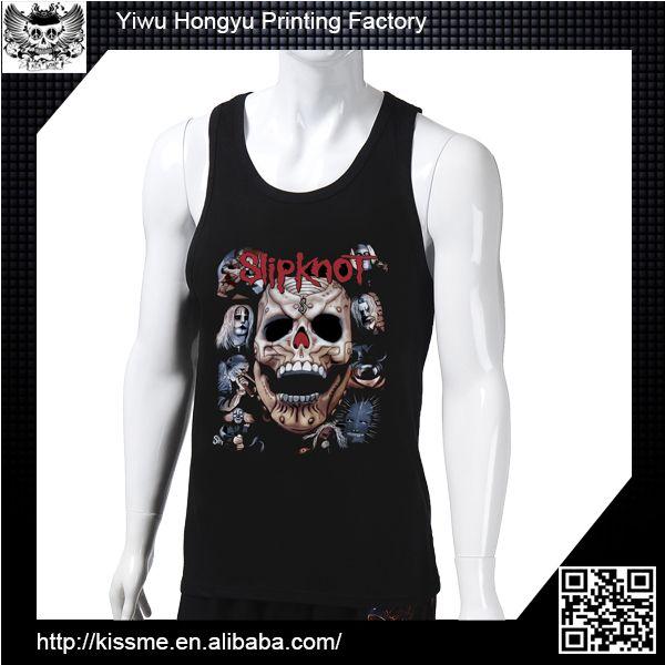 Zhejiang Yiwu Printing Factory 100% cotton mens tank top, custom tank top, cotton tank top