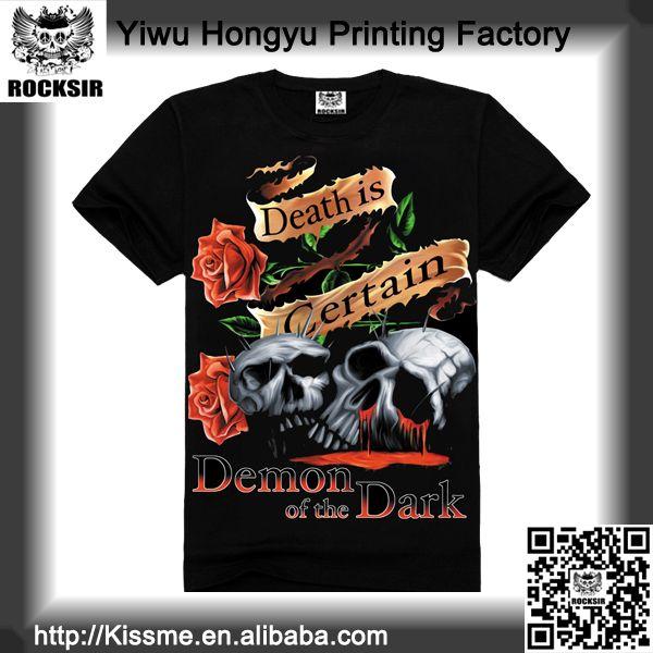 Zhejiang Yiwu Printing Factory 100% cotton long sleeve t-shirt, blank t-shirt, printed t-shirt