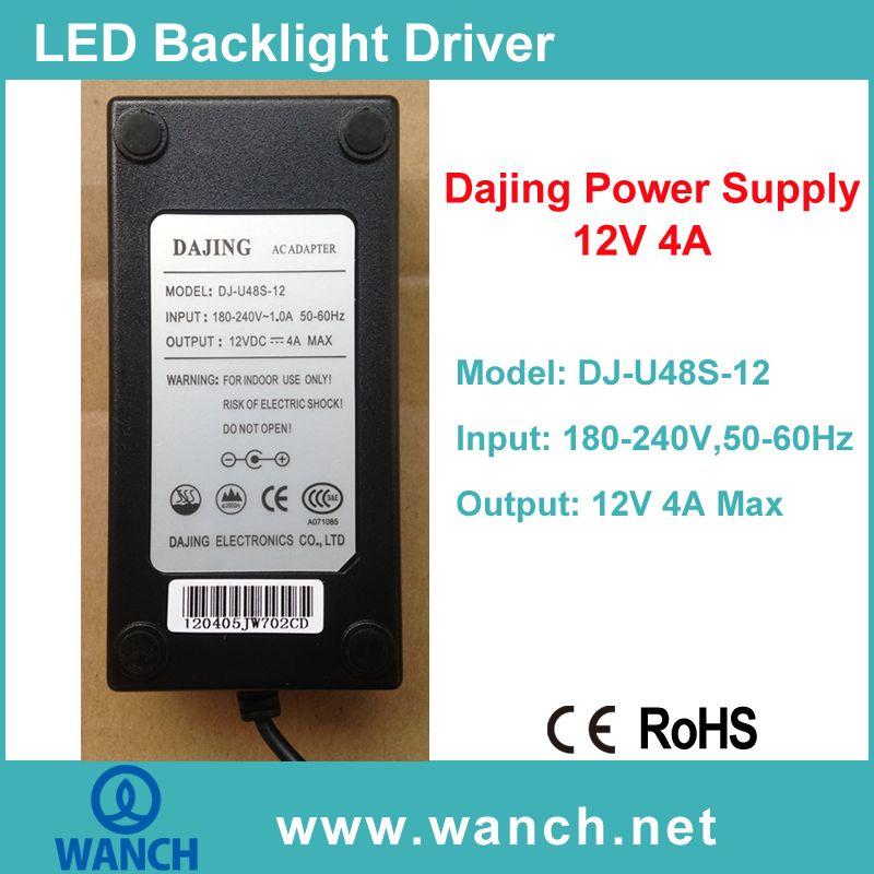 Dajing 12V 4A Power Supply for LCD/LED Monitor DJ-U48S-12