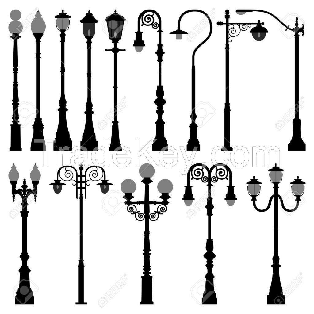 Garden Cast lamp pole