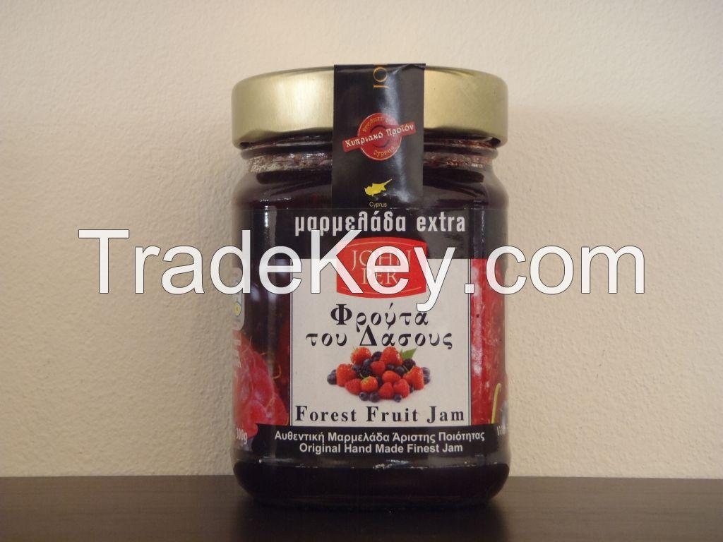 Various Fruit Jams