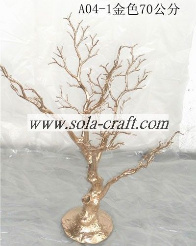 Hot selling trees for indoor wedding decoration with gold color for we