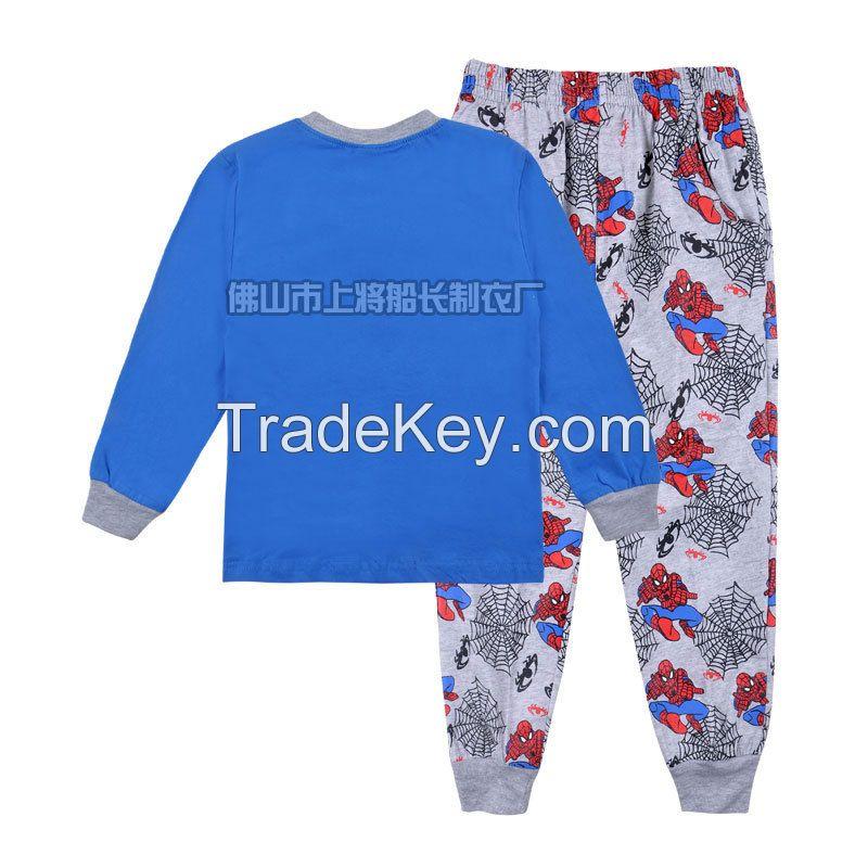 PETELULU Wholesale - children clothes 2014 fall autumn boys  Spiderman long sleeve styling cartoon t shirt winter children clothing