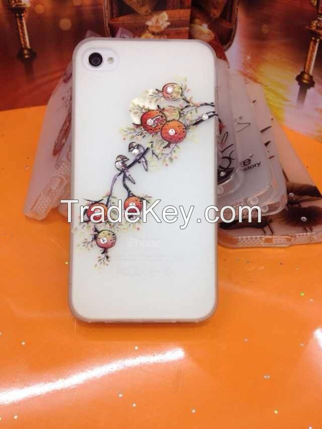 TPU dustproof plug Crystal Diamond case protective case
