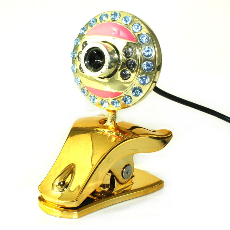 LED Crystal wire USB Webcam video chat optical EYES PC mic web camera,360 free driver digital laptop camera high definition