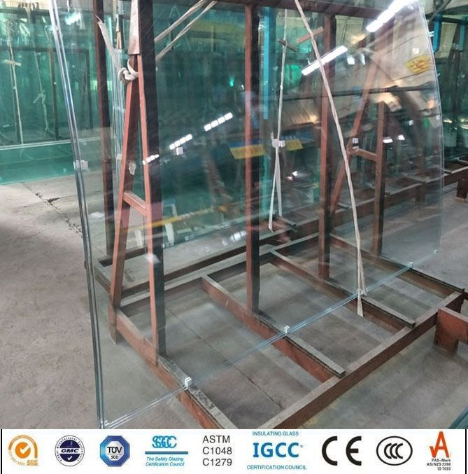 8mm Clear Falt and Curved Tempered Float Glass Price for Commercial Bu