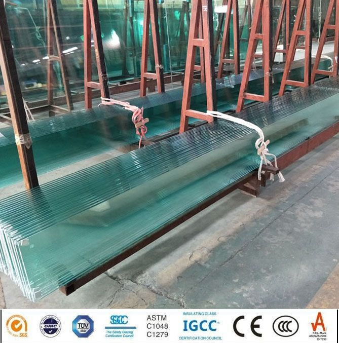 Clear and Ultra Clear Jumbo Size Flat Tempered Float Glass with Ce Cer