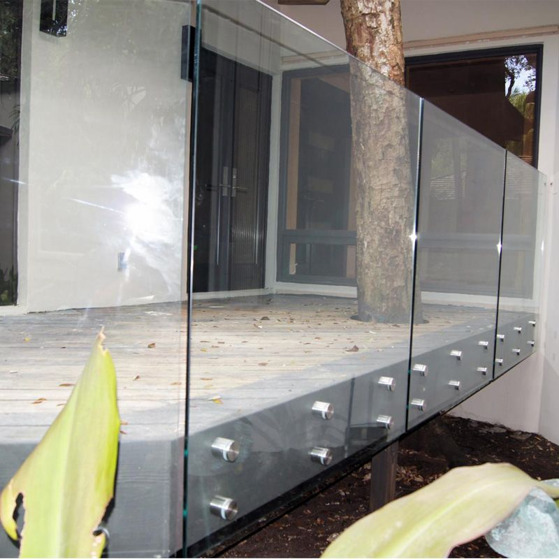 12mm Clear Tempered Glass Balcony Terrace Railing Designs Glass Price Per Square Meter