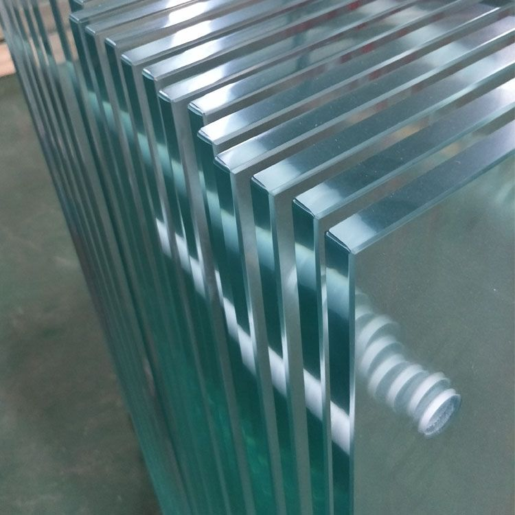 High Safety Frameless Balcony Balustrade Handrail Ultra Clear Tempered Glass