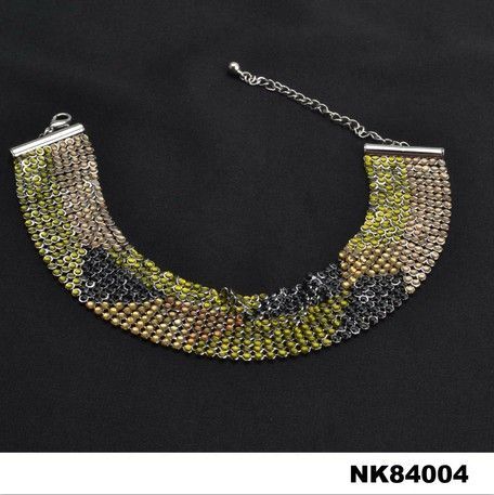 Acrylic Metal Necklace