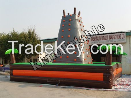 Best quality Inflatable Kids and Adults Outdoor climbing wall