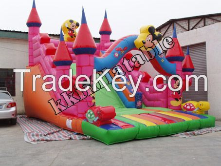 New Centry bouncer slide inflatable dry slide for fun playground