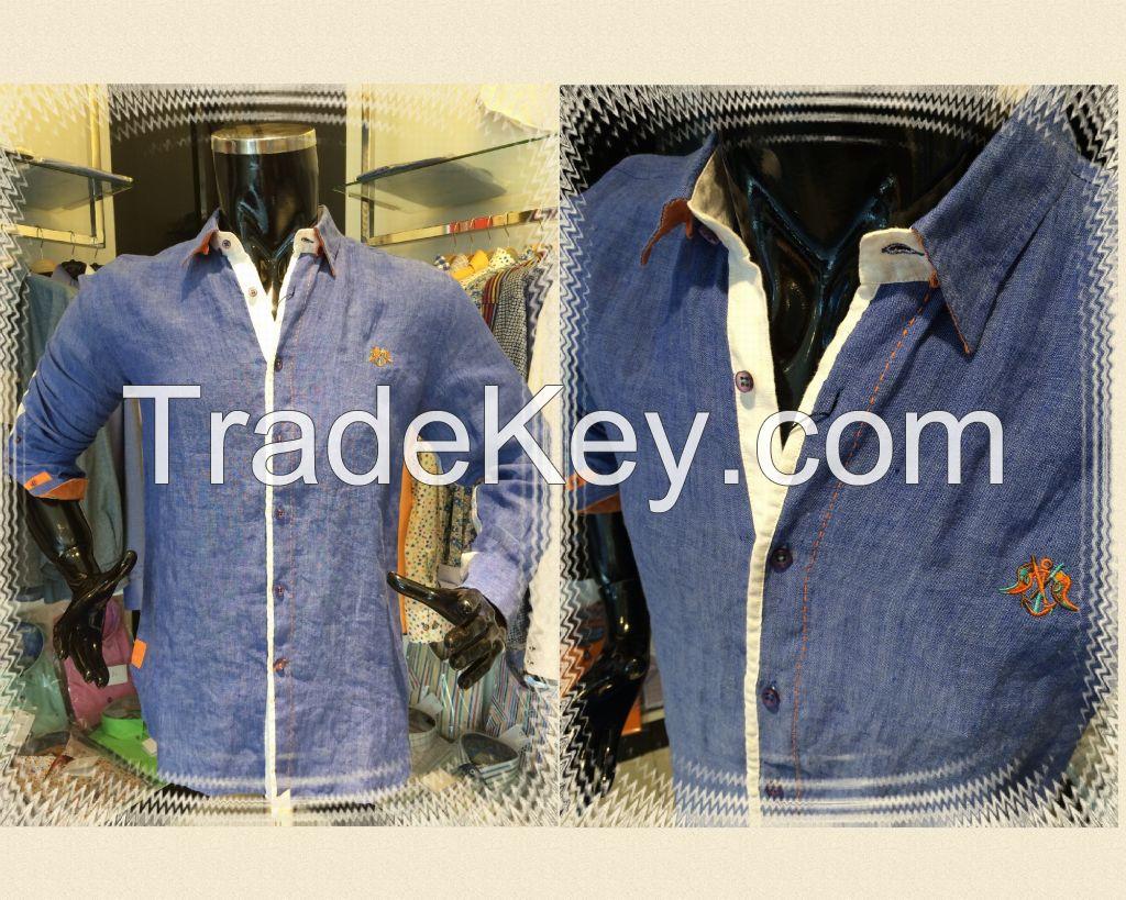 Producing 100% linen high quality shirts