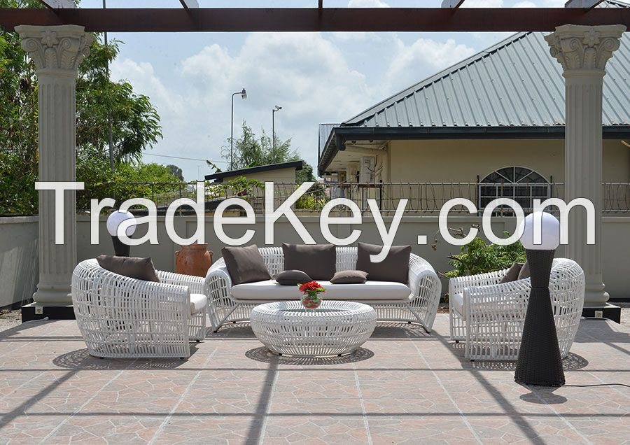 Poly Rattan, Wicker furniture sofa set