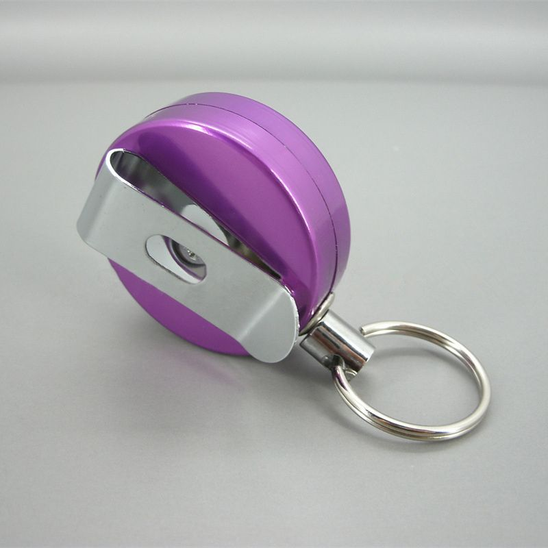 Metal Aluminum Retractable Badge Reel Clip
