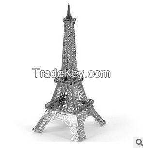 3d puzzle DIY nano metal, Eiffel Tower three-dimensional sculpture, no