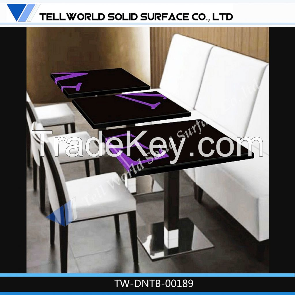 Artificial Stone Marble Acrylic Solid Surface High End Top Dining Table
