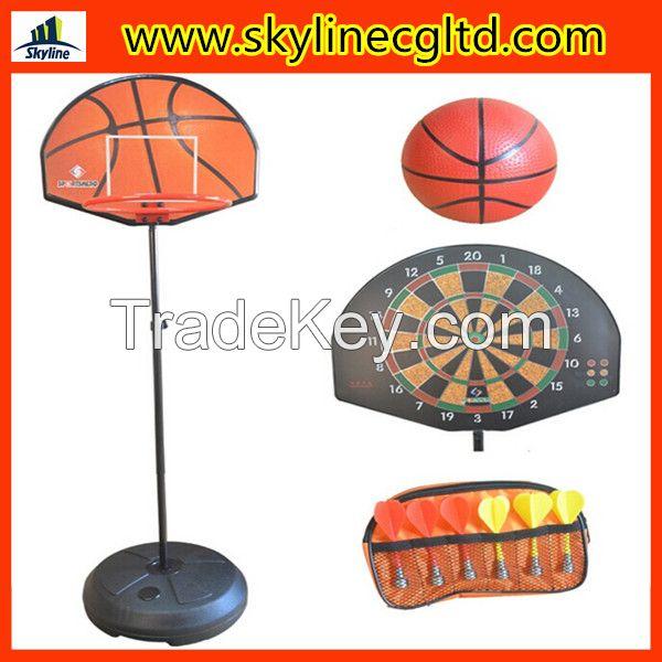 2 in 1 Combo vertical basketball board and dart board