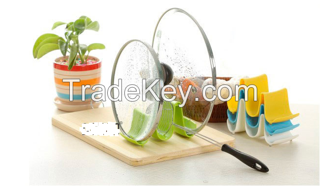 Kithcen pot lid holder/spoon holder/forks holder/stickers holder