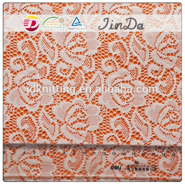 Fancy nylon colorful nice flower embroidery lace fabric design for dre