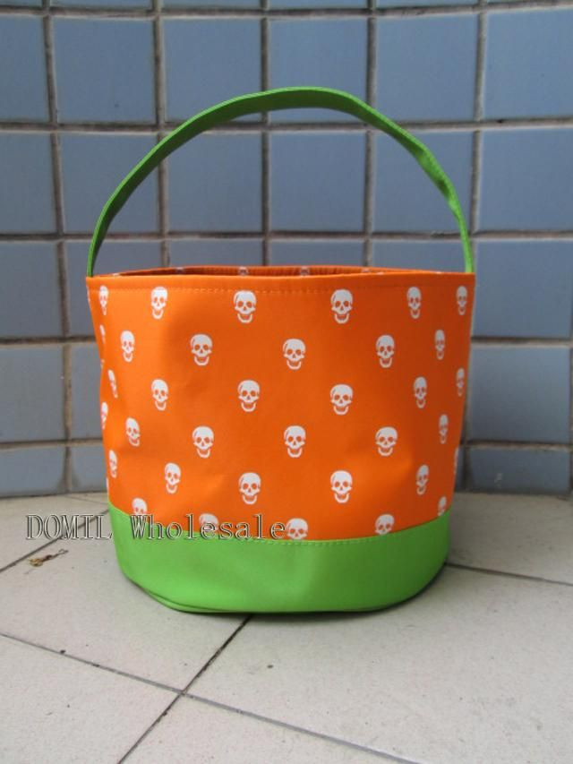 Special And Lovely Skull Printing Microfiber Halloween Holiday Bucket