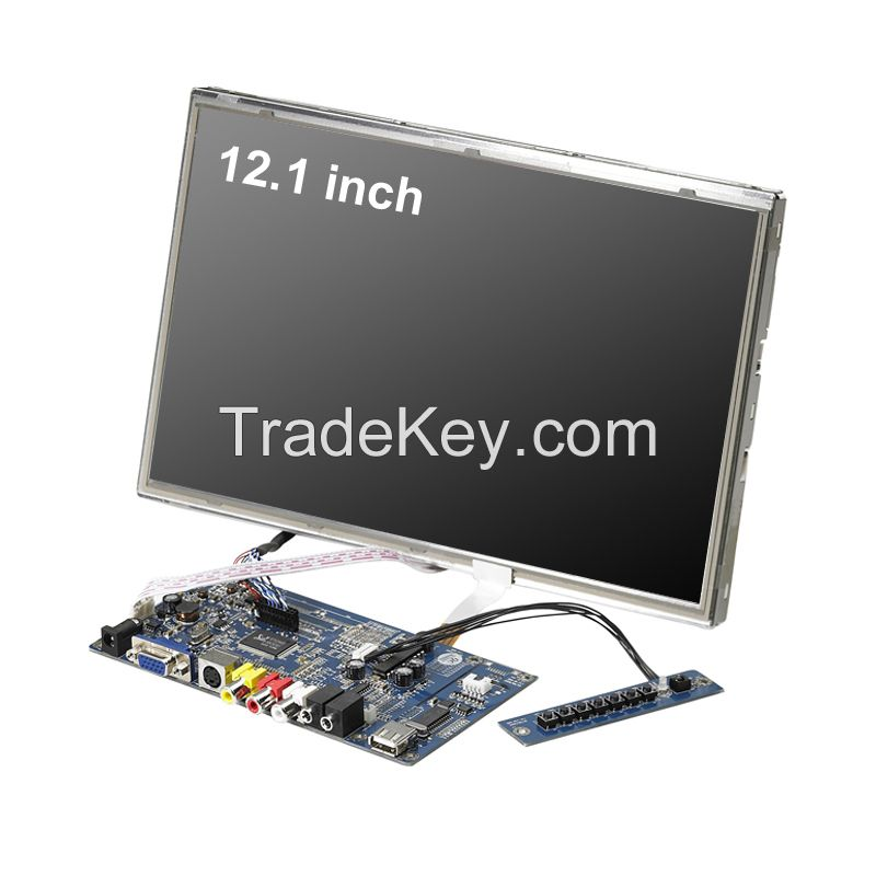 12.1 inch pilot testing open frame embedded LCD scree