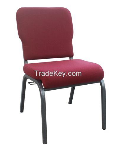 stackable sponge Metal Church Chair Wholesale Choir Chair Hot Sale in US