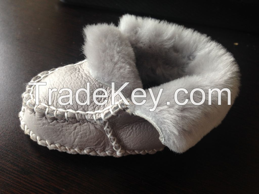 Doubleface Sheepskin Baby Moccasin