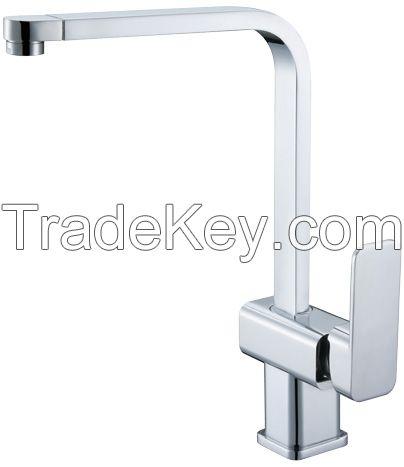 single handle brass kitchen faucet