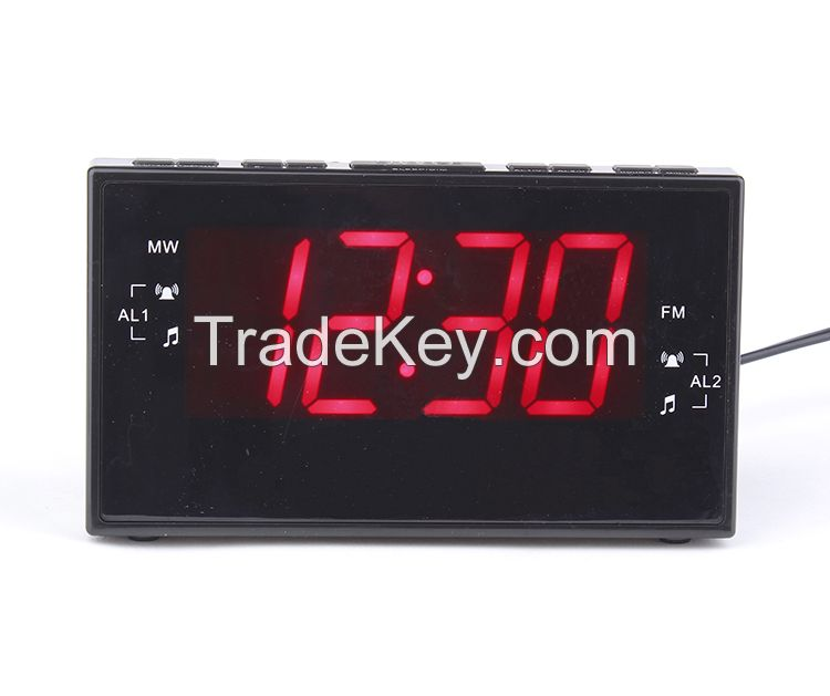 Home Digital Jumbo 1.8 inch LED alarm clock radio receiver