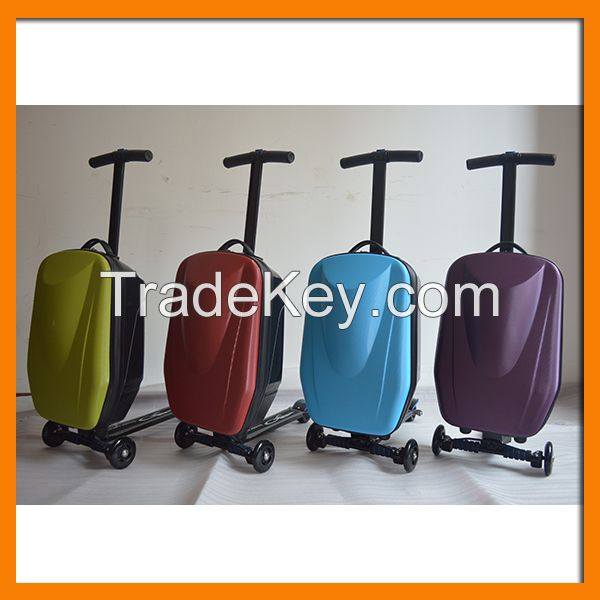 scooter 3 wheel business travel rolling trolley luggage