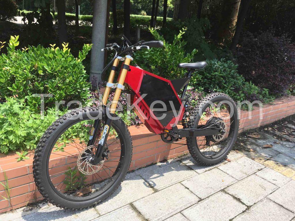 Enduro ebike ! High power electric bike 72V 3000W with hiddle battery