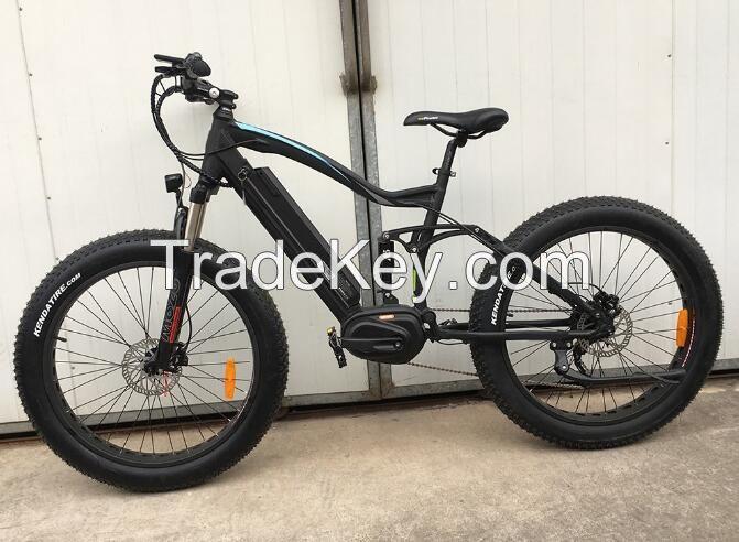 Full suspension 8 FUN mid drive fat tyre electric mountain beach bike