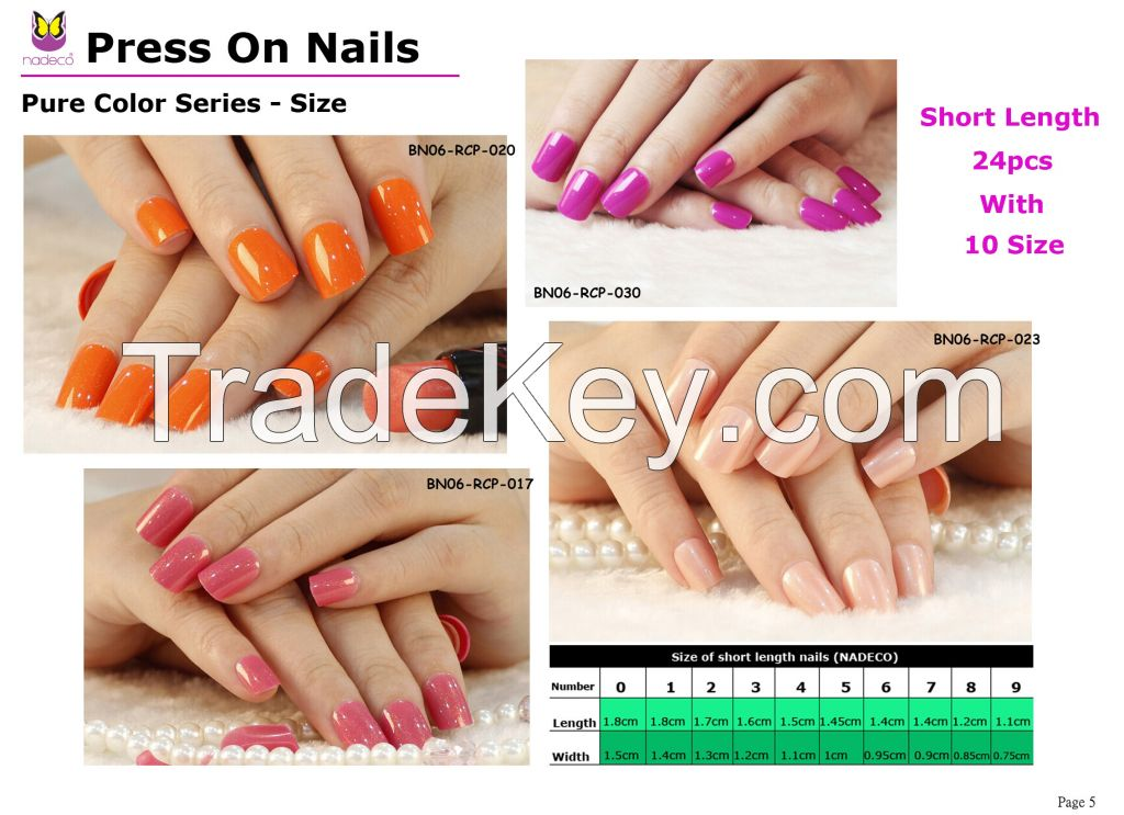 No glue needed press on nail tips for salon