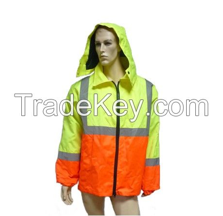 Safety coat /parka/Jacket with pp cotton,pockets,waterproof