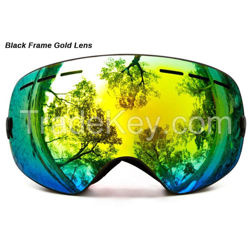 professional ski goggles double layers lens anti-fog UV400 big ski glasses skiing snowboard men women snow goggles