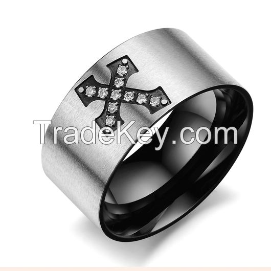 Wholesale Cheap Black Onyx Gemstone Mens Rings