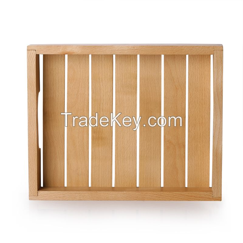 ExclusiveLane Handcrafted Wood Serving Tray - Set of 3