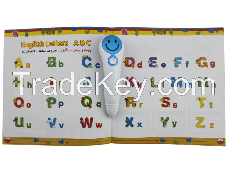 Cute Design OID Children Learning Pen in English French Arabic and Kurdish