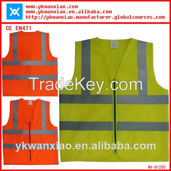 high visibility reflective safety vest comply with EN471
